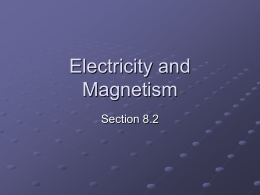 Electricity and Magnetism - District 273 Technology Services