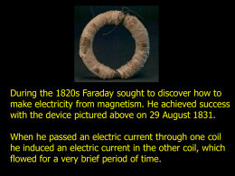 Faraday`s Law of Induction