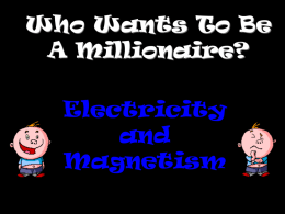 `Millionaire` Electricity and Electromagnetism revision PowerPoint