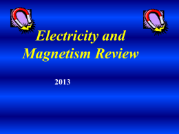 Electricity and Magnetism CA Review