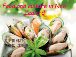 Food and culture in New Zealand