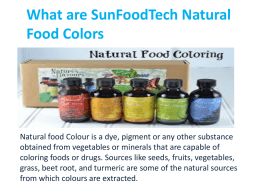 What are SunFoodTech Natural Food Colors