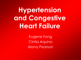 Hypertension and Congestive Heart Failure