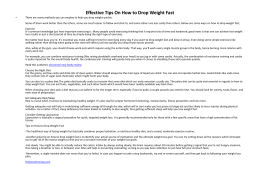Effective Tips On How to Drop Weight Fast
