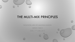 Multi-Mix principle