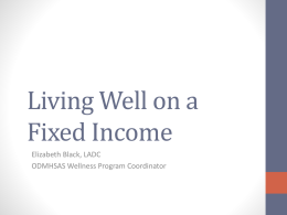 Living Well on a Fixed Income - Oklahoma Department of Mental