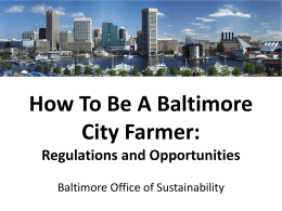 Homegrown Baltimore: Grow Local, Buy Local
