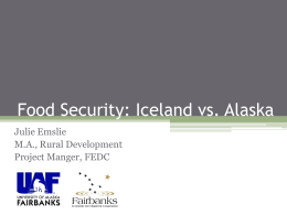 Food Security: Alaska vs. Iceland