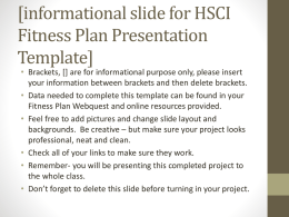 HSCI Fitness Plan PowerPoint Template
