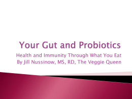 Your Gut and Probiotics Powerpoint Presentation