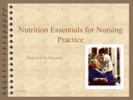 Nutrition Essential for Nurisng Practice