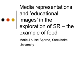 Media representations and 'educational images' in the