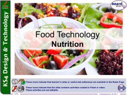 Food Technology Nutrition