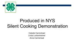 Produced in NYS Silent Cooking Demonstration