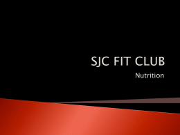 SJC FIT CLUB Nutritionx