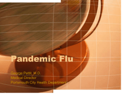 Pandemic Flu - Scioto County Medical Society