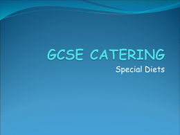 GCSE CATERING - Hope Valley College