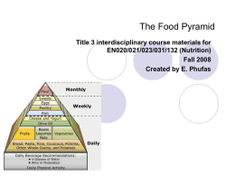 The Food Pyramid - Erie Community College