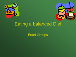 Eating a balanced Diet - yourclass / FrontPage