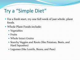 "Try a ""Simple Diet"""