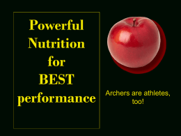 Powerful Nutrition for Great Health