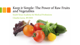 Keep it Simple: The Power of Raw Fruits and Vegetables