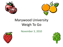 Marywood University Weigh To Go