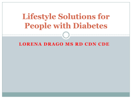 Lifestyle Solutions for People with Diabetes