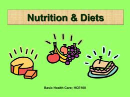 Nutrition & Diets