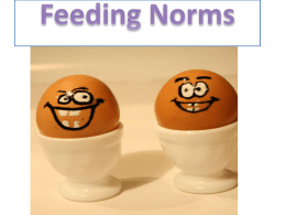 Norm of feeding