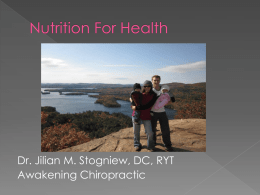 Nutrition For Health - Awakening Chiropractic