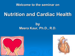 Nutrition and Cardiac Health