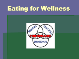 Eating For Wellness