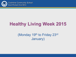 Healthy Living Awareness 2015 PowerPoint Presentation