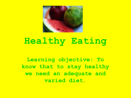Healthy Eating - Primary Resources