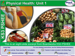 Boardworks Physical Health W8
