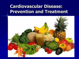 MNT for Cardiovascular Disease
