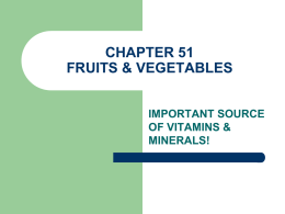 chapter 51 fruits & vegetables
