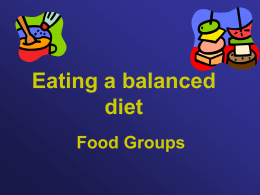 Eating a balanced Diet