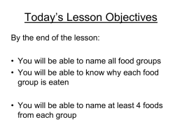 Today`s Lesson Objectives - kings