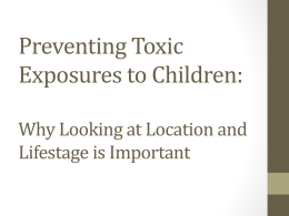 Preventing Toxic Exposures to Children: Why Looking at Location