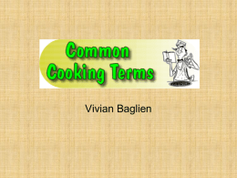 Cooking terms ppt