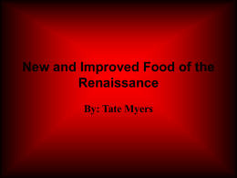 Food of the Renaissance