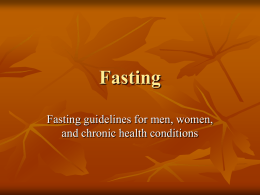 Fasting Guidelines Presentation