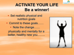 Healthy Lifestyle PowerPoint Presentation
