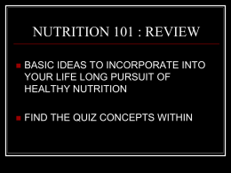 Nutrition Review PP