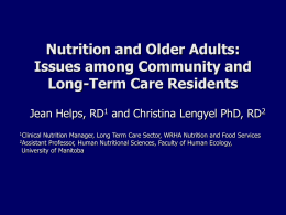 Nutrition Issues For Older Adults