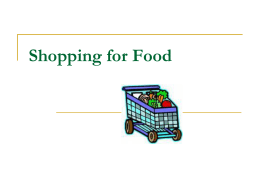 Shopping for Food - Monroe County Schools