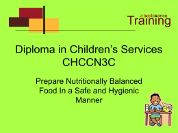 Diploma in Children`s Services CHCCN3C