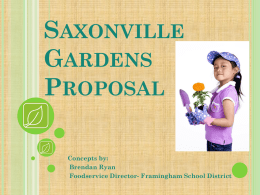 to see a School Gardens Proposal created by me